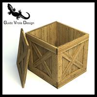 3d model wood crate