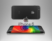 3d iphone 6 logo model