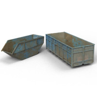 trash containers 3d 3ds