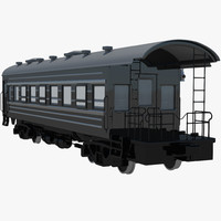 passenger train caboose 3d ma