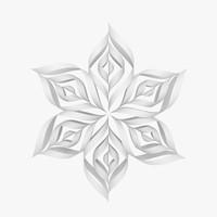 3d origami snowflake v1 model