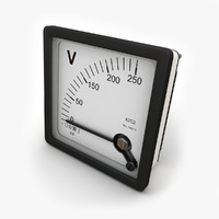 3ds max panel dc voltmeter