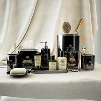 "Restoration hardware bath set ""LE BAIN ACCESSORIES COLLECTION BLACK"