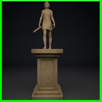 walking elf statue 3d max