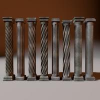 set column 3d model