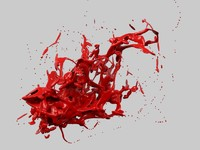 3d model abstract liquid
