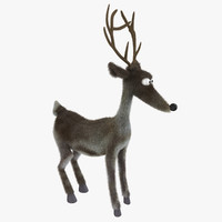 3d model reindeer fur