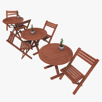 designs old table seat 3d model