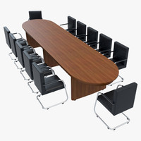 3dsmax conference table chairs 1