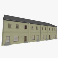3d european building exterior interior model