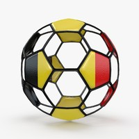 3d model of soccer ball