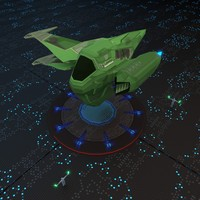 3d space spaceship ship