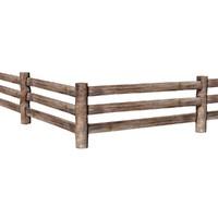wooden fence c4d