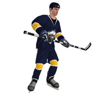 3d model of rigged hockey player