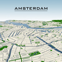amsterdam cityscape 3d dwg