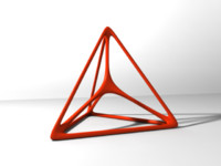 3d model tetrahedron triangle modelled