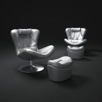 3d model natuzzi-leather-sound-chair