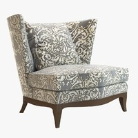 club chair donghia 3d 3ds
