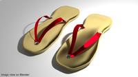 selipar slipper 3d obj