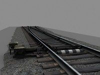 3ds max russian railway switch wood