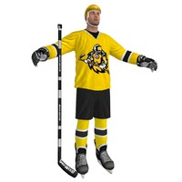 hockey player 3d x