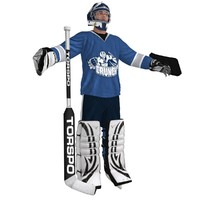 hockey goalie 3d max
