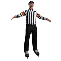 3d model hockey referee