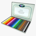 colored pencil 3D models