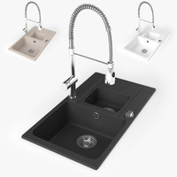 Madagaskar Kitchen sink with spring faucet
