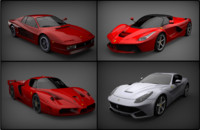 3d model ferrari carpack cars