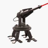 3d robot mobile laser model