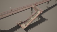 3d railway footbridge model