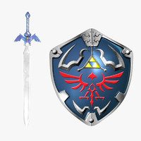 3d sword shield model