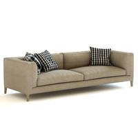 b italia dives sofa 3d model