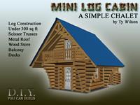 3ds mini log cabin