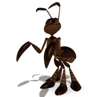 ant rigged 3d model