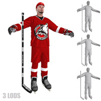3d hockey player 3