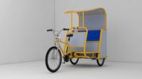 pedicab cab 3d model