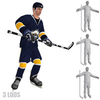3ds max rigged hockey player s