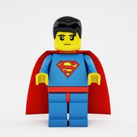 3d x lego superman