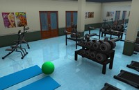 3d model interiors room gim
