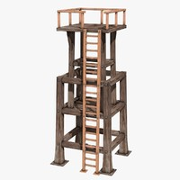 wooden tower 3d model