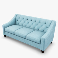 Chloe Fabric Velvet Metro Living Sofa