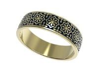 gold ring enamel -10 3d model