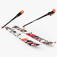 black diamond skis obj