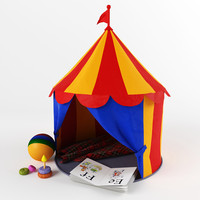 children circus tent 3d max