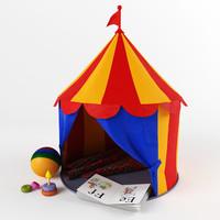 3d model children circus tent