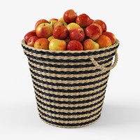 3d model basket ikea maffens apples