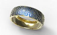 3d gold ring enamel -13 model
