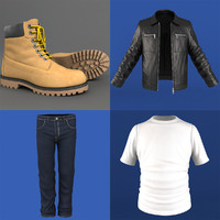 mans clothing pack 3d model